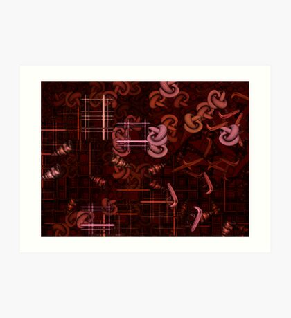 Crimson Ladder Art Print