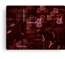 Crimson Ladder Canvas Print