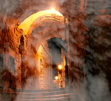 Heavenly alley by Moshe Cohen