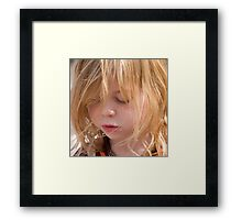 Lily - a study in concentration Framed Print