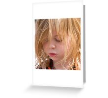 Lily - a study in concentration Greeting Card