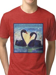 Happily ever after (Black swan) Tri-blend T-Shirt