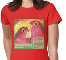 Polly want a Polly (Peach-faced lovebird) Womens Fitted T-Shirt