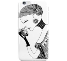 Girl's portrait iPhone Case/Skin