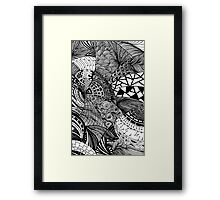 Abstract doodles Framed Print