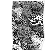 Abstract doodles Poster