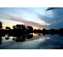 Tropical Sky ~ Lake Reflection Photographic Print