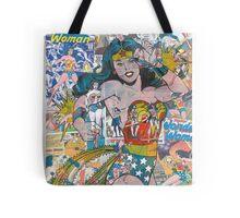 Vintage Comic Wonder Woman Tote Bag