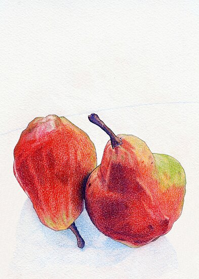 Two Red Pears by Mariana Musa