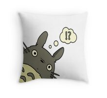 Totoro ask Throw Pillow