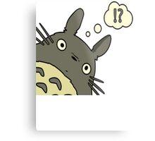 Totoro ask Metal Print