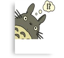 Totoro ask Canvas Print
