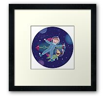 Space friends Framed Print