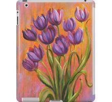 Acrylic painting, purple tulips contemporary flowers art iPad Case/Skin