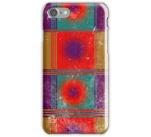 Worn Retro Style Pattern of Circles and Squares iPhone Case/Skin