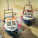 Cornish fishing boats by Claire Aberlé