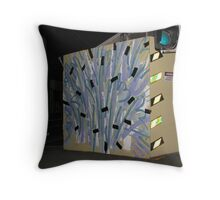 Night Road Work Throw Pillow