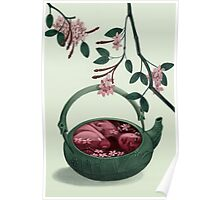 Ophelia in a teapot Poster