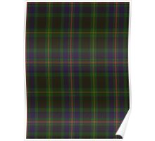 00349 Ofally County District Tartan Poster