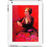 The Gypsy Skirt, oil painting on stretched canvas iPad Case/Skin