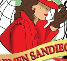 WHERE IN THE CON IS CARMEN SANDIEGO Sticker