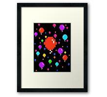 Pixel Balloons Framed Print