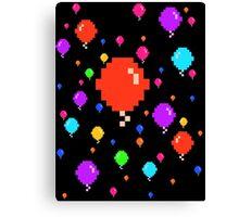 Pixel Balloons Canvas Print