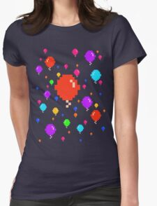 Pixel Balloons Womens Fitted T-Shirt