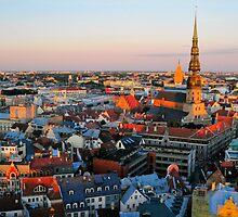 Views of Old Riga 2 by Rita Analise Kaulina