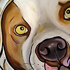 Painted Bulldog Print by Patricia Johnson