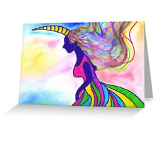 Unicorn girl  Greeting Card