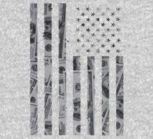 American Flag Money One Piece - Long Sleeve