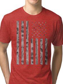 American Flag Money Tri-blend T-Shirt