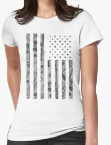 American Flag Money Womens Fitted T-Shirt