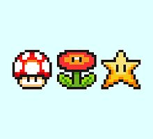 Pixelated Mario Bros Icons by NiallsRuby