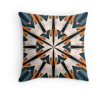 Orange Blue And Green Mandala Throw Pillow