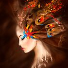 Fantasy Portrait beautiful woman butterfly by Alena Lazareva