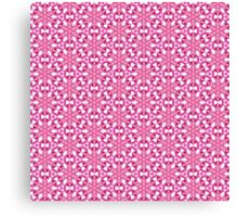 Pink Flower Design Canvas Print