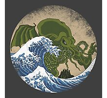 Hokusai Cthulhu Photographic Print