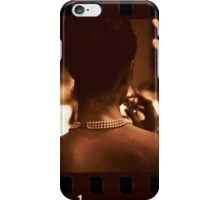 Sensual young lady in wedding black and white sepia 35mm photo iPhone Case/Skin