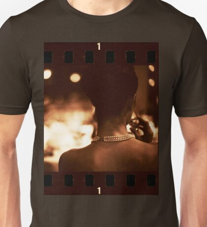Sensual young lady in wedding black and white sepia 35mm photo Unisex T-Shirt