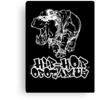 Hip Hop Opotamus (Inverted) Canvas Print