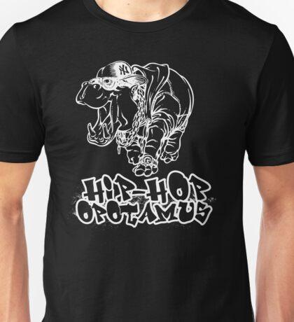 Hip Hop Opotamus (Inverted) Unisex T-Shirt