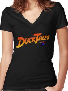 DucktaLes Women's Fitted V-Neck T-Shirt