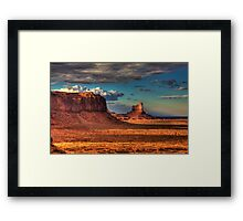 Dusk at Monument Valley Framed Print