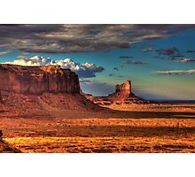 Dusk at Monument Valley Photographic Print