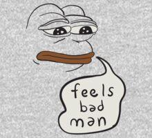 Feels bad man Pepe the sad frog One Piece - Long Sleeve