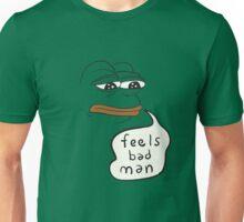 Feels bad man Pepe the sad frog Unisex T-Shirt