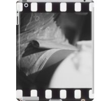 Sensual young lady in short skirt in wedding black and white slide film 35mm analog iPad Case/Skin