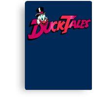 Pixel Ducktales Canvas Print